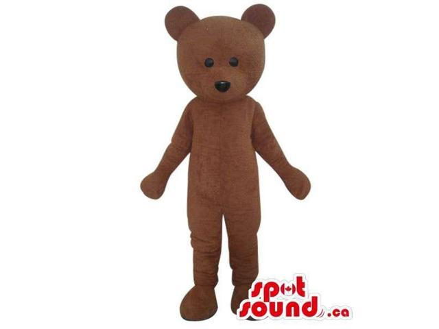Cute Standard Teddy Bear Toy Plush Canadian SpotSound Mascot With Small Black Eyes