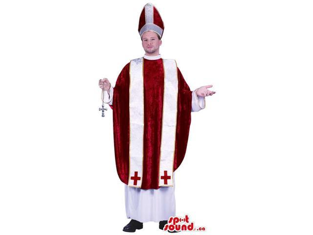 Fantastic Pope Cardinal Character Adult Size Costume
