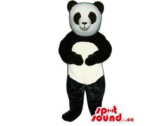 Customised Black And White Panda Bear Forest Canadian SpotSound Mascot