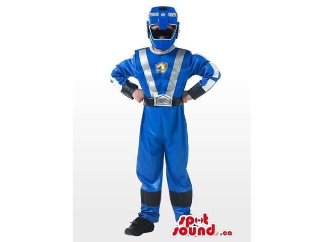 Awesome Blue Power Ranger Series Character Costume Canadian SpotSound Mascot