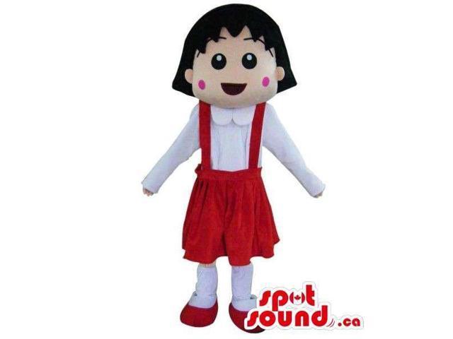 Shin Chan Japanese Cartoon Girl Character Canadian SpotSound Mascot In An Red Skirt