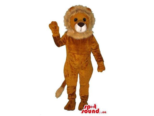 Brown And Beige All Lion Animal Customised Canadian SpotSound Mascot