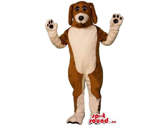 Brown And Beige All And Customised Dog Animal Canadian SpotSound Mascot