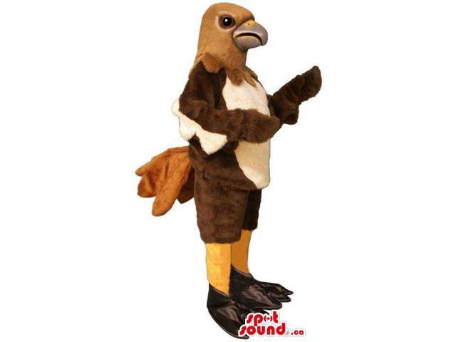 Brown And Beige All And Customised Bird Canadian SpotSound Mascot