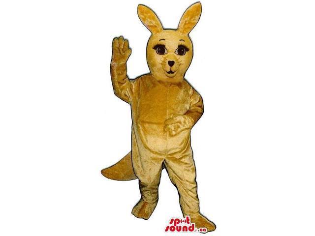Cute All Light Brown Kangaroo Plush Animal Canadian SpotSound Mascot