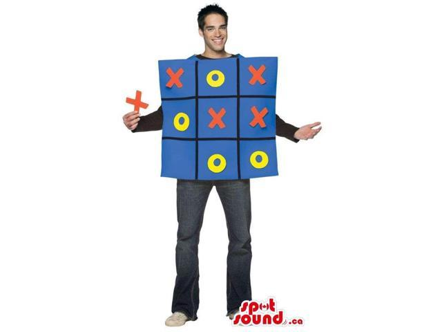 Cool Tic Tac Toe Board Game Adult Size Plush Costume Or Canadian SpotSound Mascot