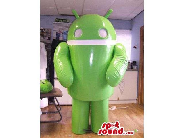 Android Technology Mobile Canadian SpotSound Mascot In Green And White