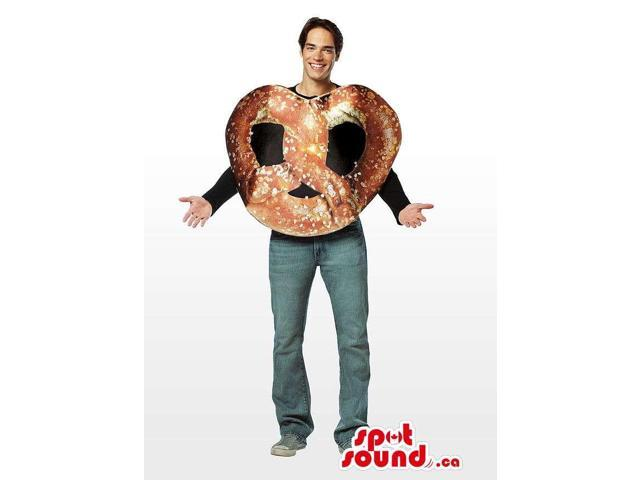 Awesome Large Pretzel Bread Snack Adult Size Costume