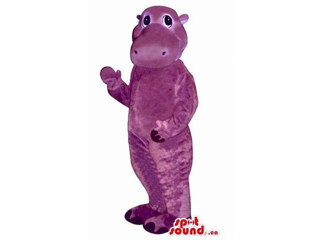 Purple All And Customised Hippopotamus Animal Canadian SpotSound Mascot