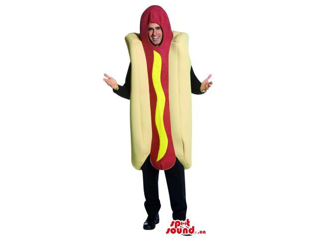 Awesome Large Hot-Dog Food Adult Size Costume Or Canadian SpotSound Mascot