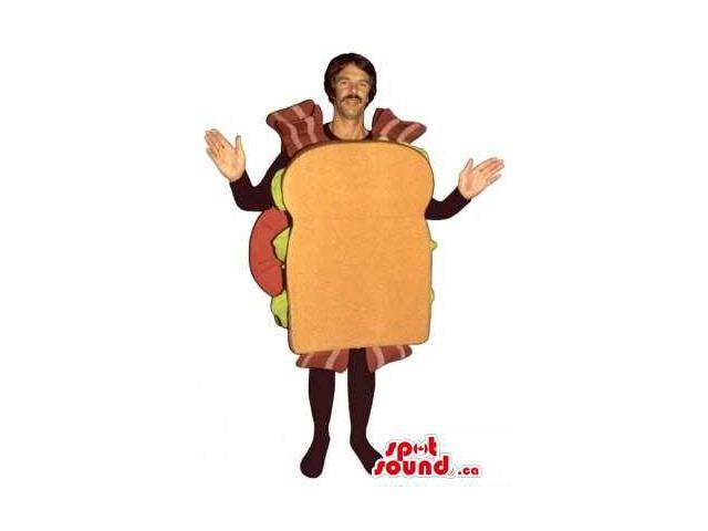 Large Sandwich Canadian SpotSound Mascot Or Adult Costume With Many Ingredients