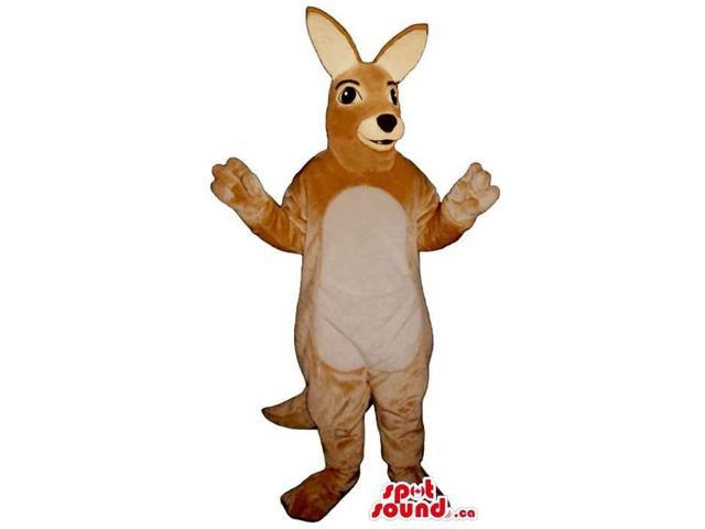 Customised Brown Kangaroo Canadian SpotSound Mascot With A Beige Belly
