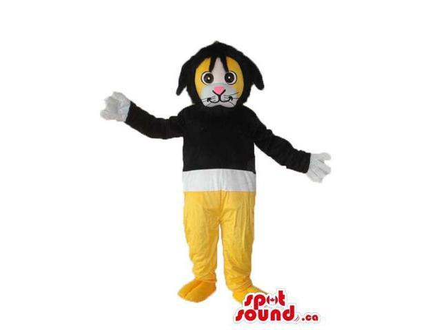 Cute Yellow And Black Fairy-Tale Rabbit Plush Canadian SpotSound Mascot