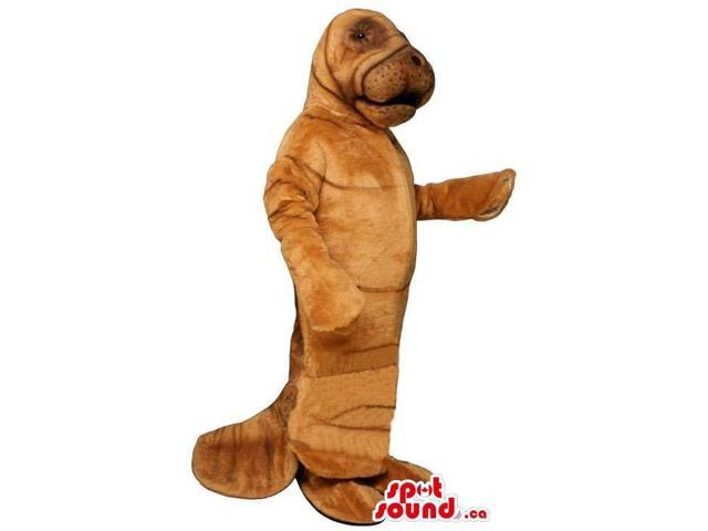 All Brown And Customised Sea Lion Animal Canadian SpotSound Mascot