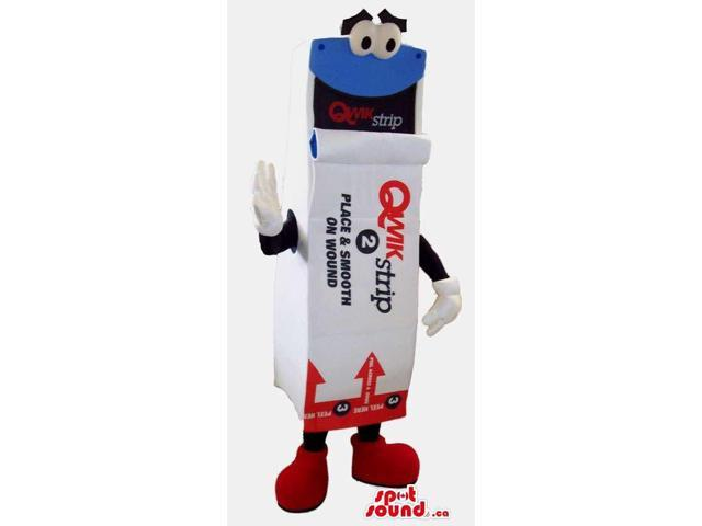 Peculiar Note Stack Canadian SpotSound Mascot With Brand Names, Logos And Text