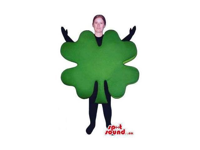Large Green Clover Plant Leaf Canadian SpotSound Mascot Or Adult Costume