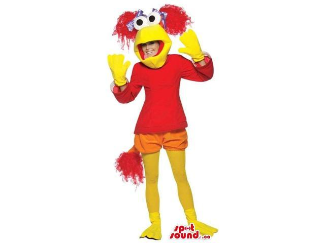 Cool Yellow And Red Muppets Character Adult Size Plush Costume
