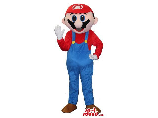 Standard Super Mario Bros. Well-Known Video Game Character Canadian SpotSound Mascot
