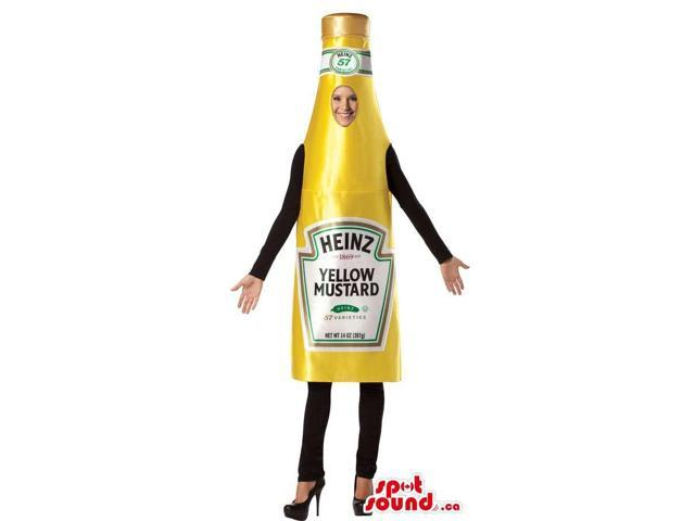 Yellow Mustard Sauce Bottle Adult Size Plush Costume Or Canadian SpotSound Mascot