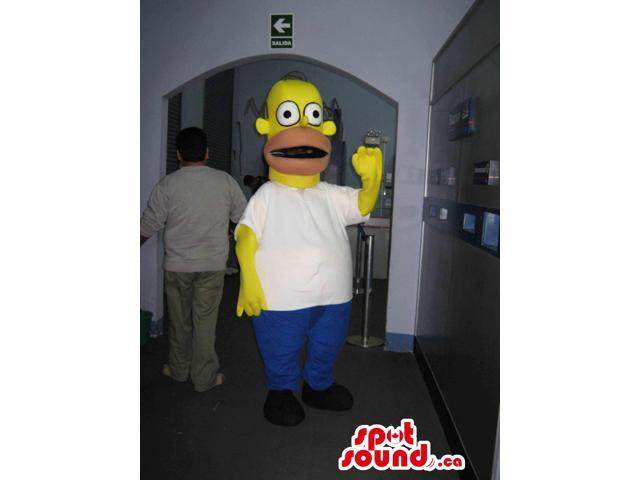 Well-Known The Simpsons Homer Canadian SpotSound Mascot In His Standard Clothes