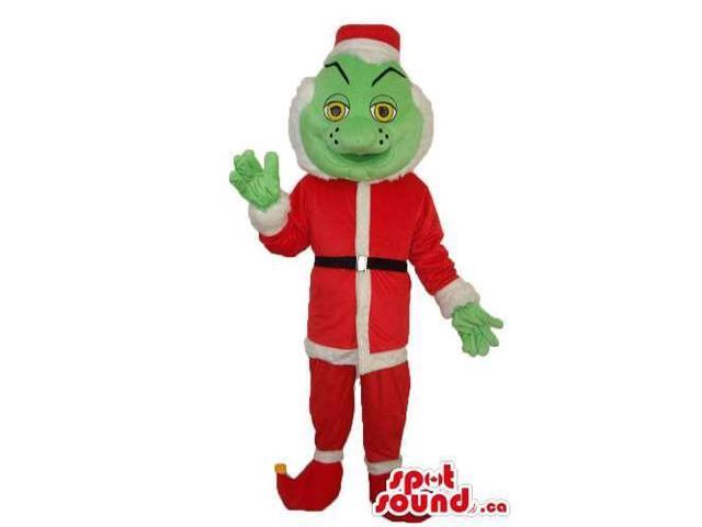 The Gringe Cartoon Character Plush Canadian SpotSound Mascot In Santa Claus