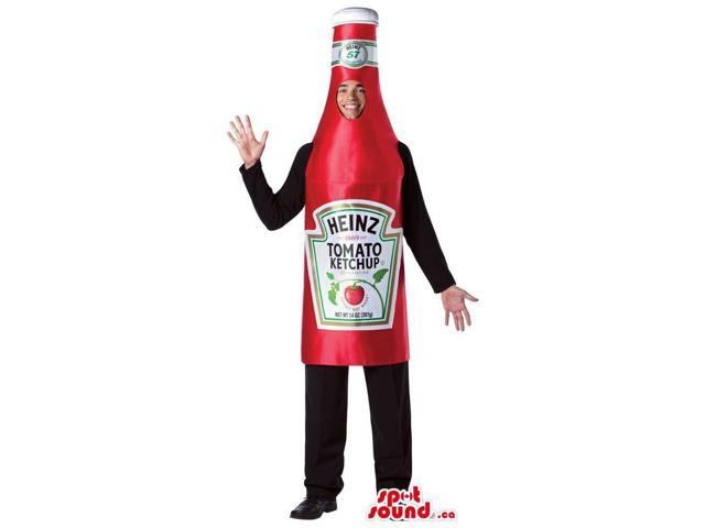 Red Ketchup Sauce Bottle Adult Size Plush Costume Or Canadian SpotSound Mascot