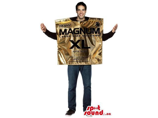 Cool Golden Condom Bag Adult Size Plush Costume Or Canadian SpotSound Mascot