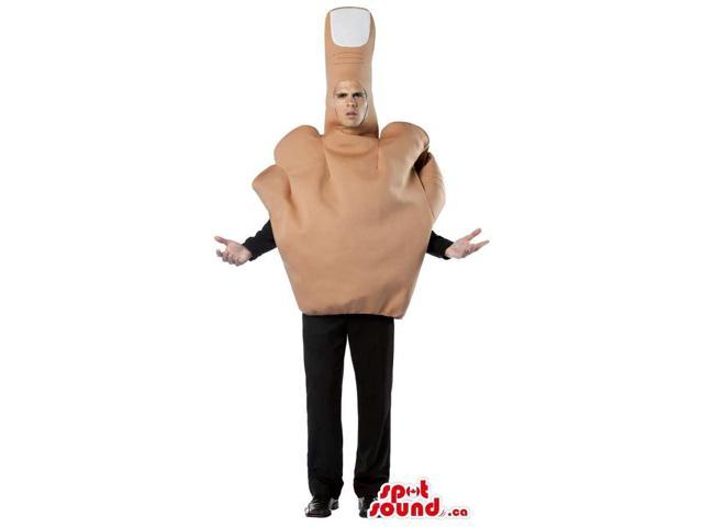 Large Middle Finger Adult Size Plush Costume Or Canadian SpotSound Mascot