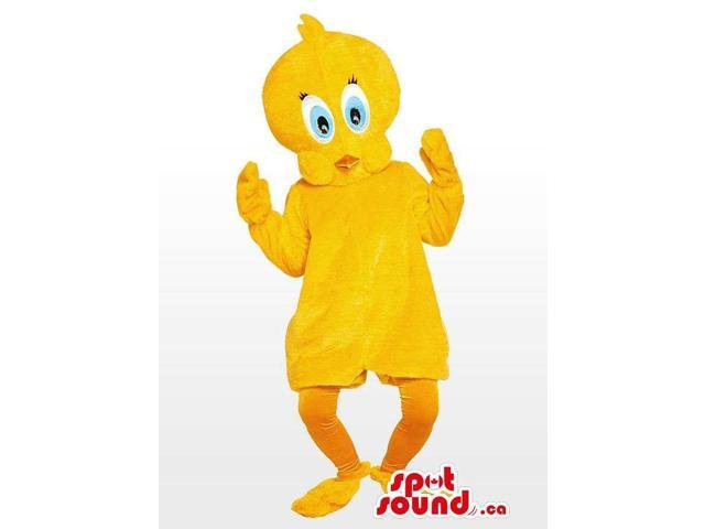 All Customised Yellow Bird Canadian SpotSound Mascot Tweety Cartoon Character