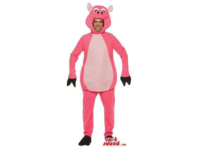 Great Large Pig Adult Size Plush Costume Or Canadian SpotSound Mascot