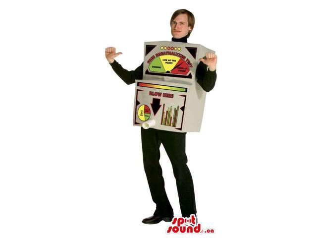 Large Breathalyser Test Machine Adult Size Plush Costume