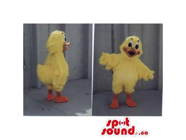 Customised Peculiar Yellow Duck Canadian SpotSound Mascot With Orange Beak