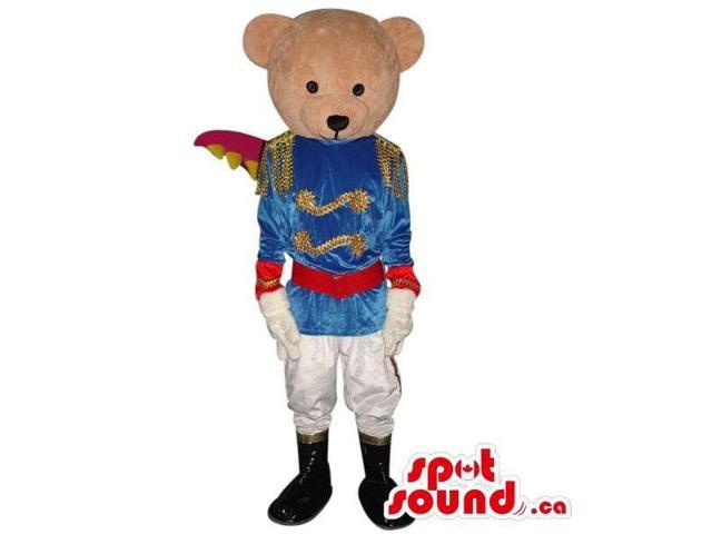 Teddy Bear Boy Animal Plush Canadian SpotSound Mascot With Groom Or Prince Clothes