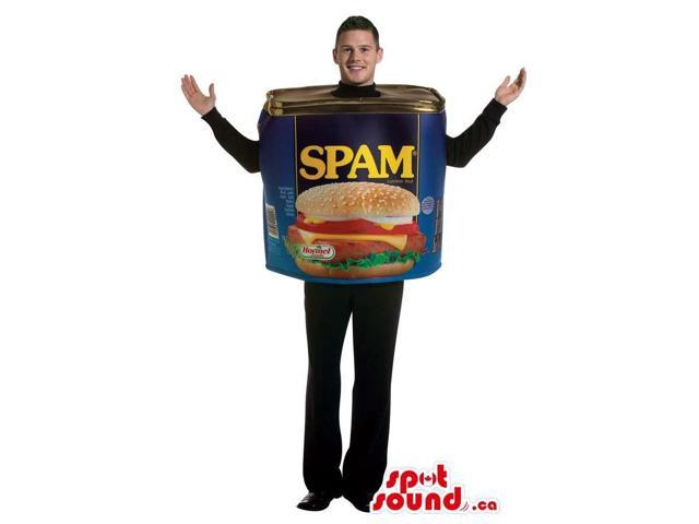 Large Spam Ham Can Adult Size Plush Costume Or Canadian SpotSound Mascot