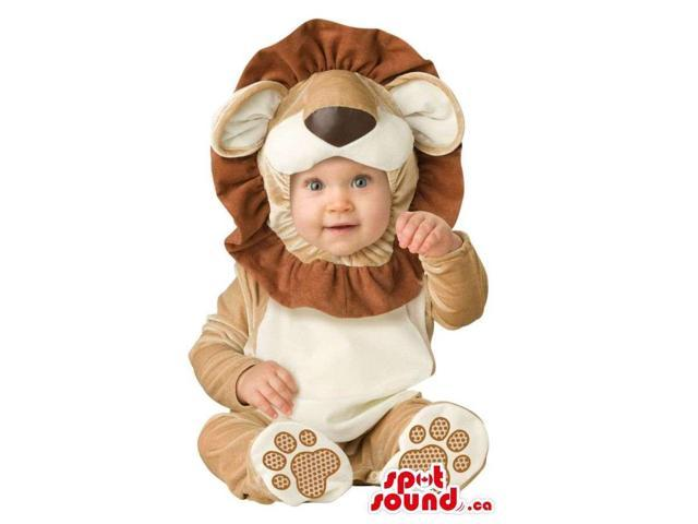 Very Cute Brown Lion Animal Toddler Size Plush Costume