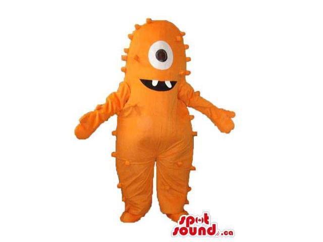 Orange One-Eyed Monster Character Plush Character Canadian SpotSound Mascot