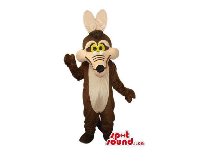 Wile E. Coyote Alike Cartoon Character With Yellow Eyes