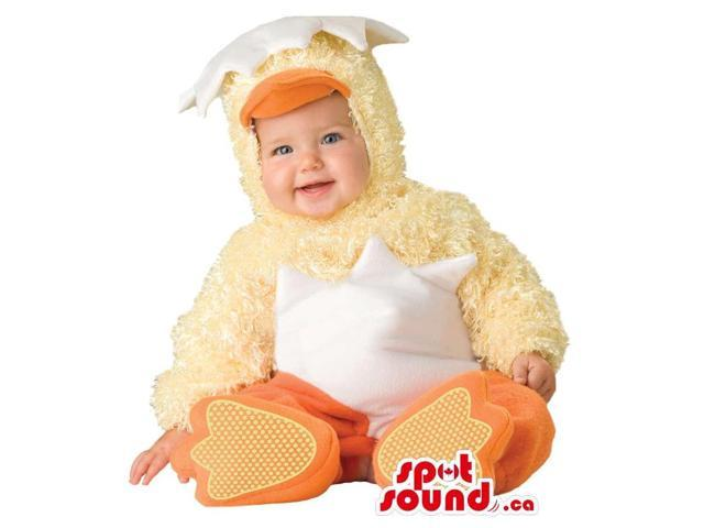 Very Cute Chicken In A Hatched Egg Toddler Size Plush Costume