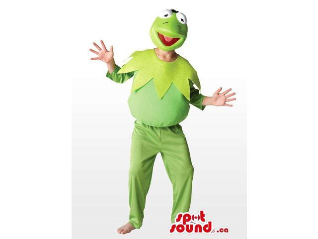 Green Well-Known Kermit Character Adult Size Plush Disguise