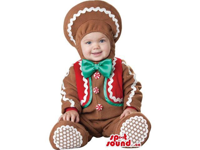 Very Cute Ginger-Bread Man Toddler Size Plush Costume