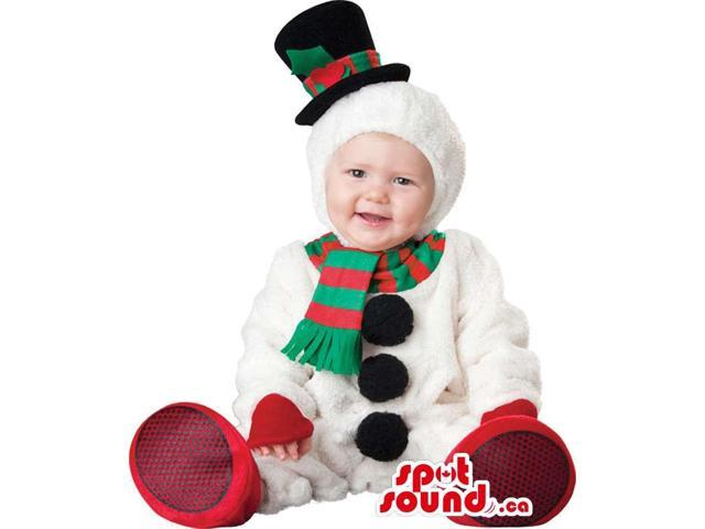 Very Cute Christmas Snowman Toddler Size Plush Costume