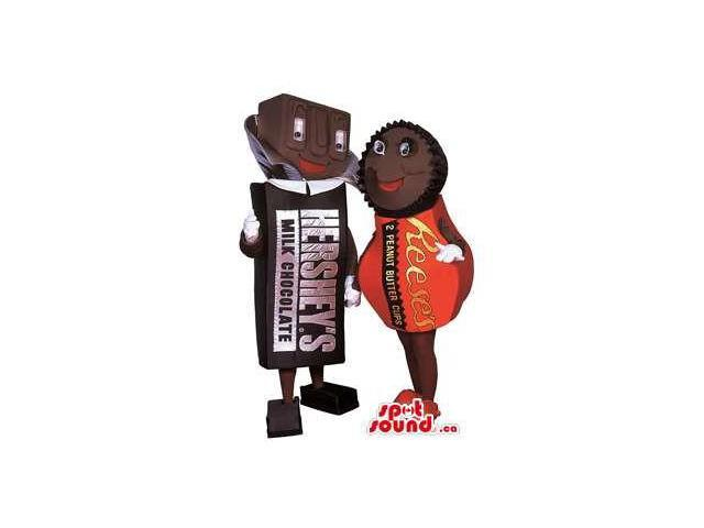 Peculiar Boy And Girl Hershey'S Chocolate Plush Canadian SpotSound Mascots