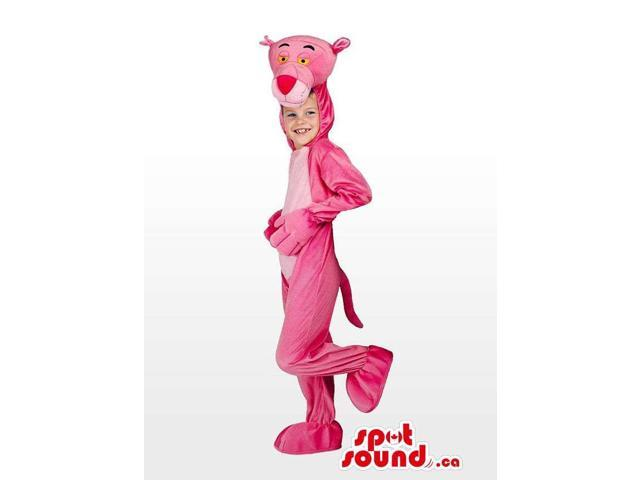 Cute Pink Panther Character Plush Children Costume