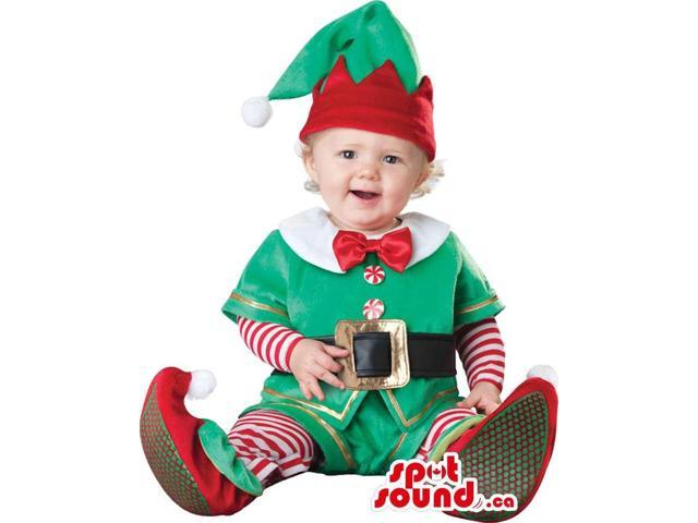 Very Cute Christmas Dwarf Toddler Size Plush Costume