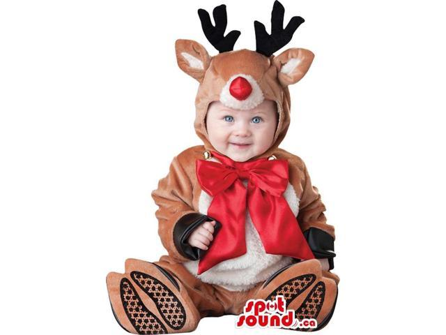 Very Cute Christmas Reindeer Toddler Size Plush Costume