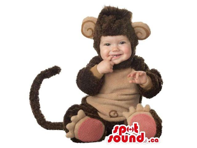 Very Cute Brown Monkey Animal Toddler Size Plush Costume