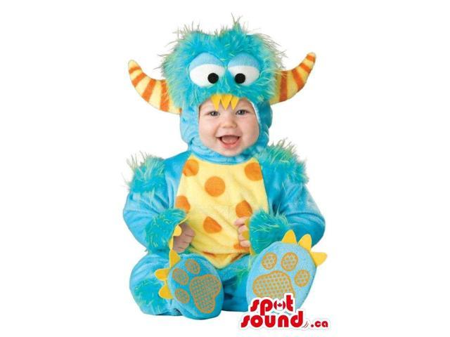 Very Cute Orange And Blue Monster Toddler Size Plush Costume