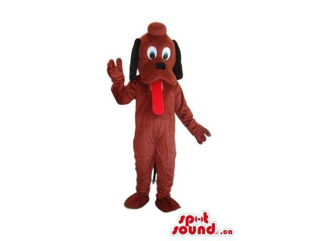 Brown Pluto It Dog Animal Cartoon Disney Character Canadian SpotSound Mascot
