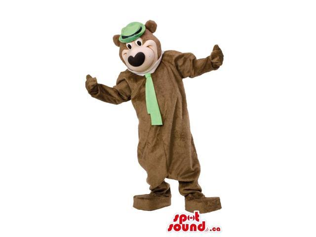 Well-Known Cartoon Bear Character: Yogi Bear With Green Hat And Tie