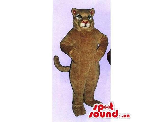 Customised All Brown Wildcat Or Panther Animal Canadian SpotSound Mascot